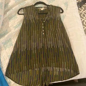 H&M multicolor tunic size 6